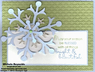 Beautiful season bright snowflake watermark