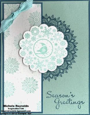Four seasons peacock snowflake watermark