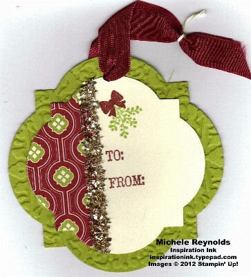 Joyous celebrations mistletoe tag watermark