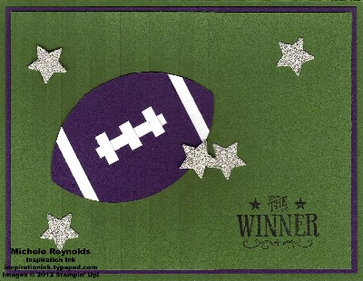 Blue ribbon football winner watermark