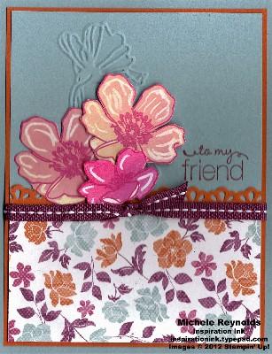 Fabulous florets crayon resist flowers watermark