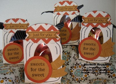 Perfectly preserved candy corn jars watermark
