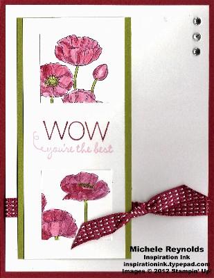 Pleasant poppies pink poppy squares watermark