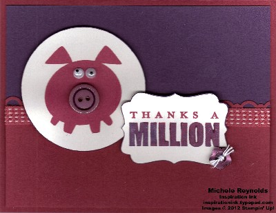 Button buddies pig million thanks watermark
