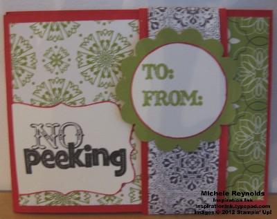 No peeking gift card wallet watermark