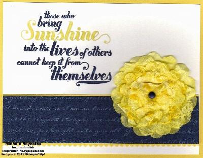 Feel goods sunshine crepe paper flower watermark