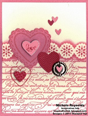 Hearts a flutter heart collage watermark