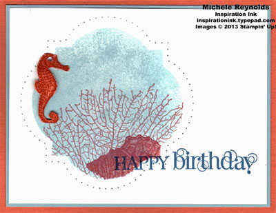 By the tide seashore window birthday watermark