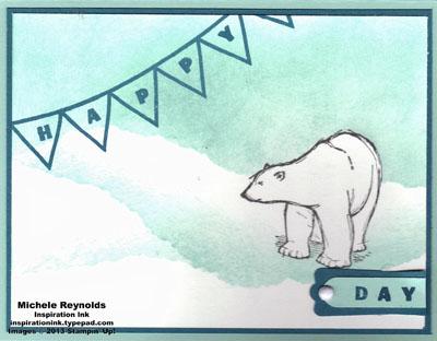 Designer type polar bear day watermark