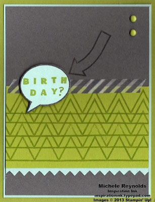 Designer type birthday question speech bubble watermark