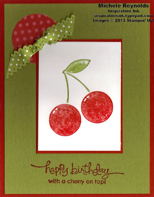 Mouthwatering spotted cherries birthday watermark