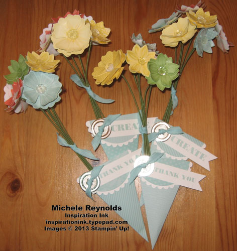 Blossom bouquet kit petal cones watermark