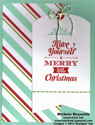 Merry little christmas kit card watermark