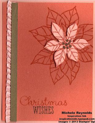 Joyful christmas coral poinsettia watermark