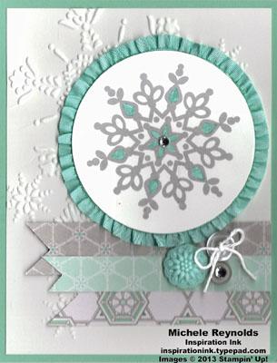 Festive flurry ribboned snowflake watermark