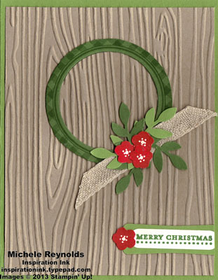 Kind & cozy christmas wreath watermark