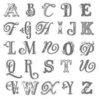 Broadsheet alphabet