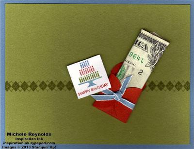 Pretty postage money envelope watermark