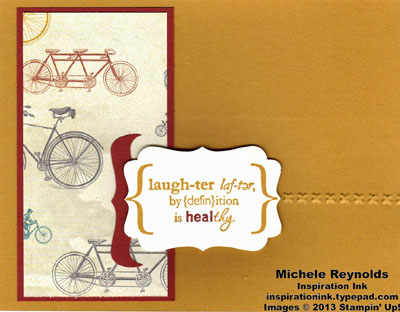 Word play laughter bicycles watermark