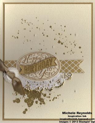 Gorgeous grunge golden birthday watermark