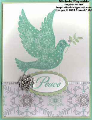 Calm christmas frosted dove watermark