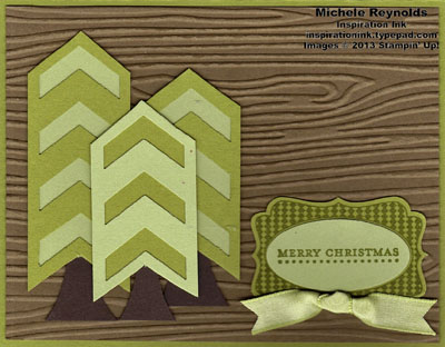 Teeny tiny wishes chevron punch trees watermark