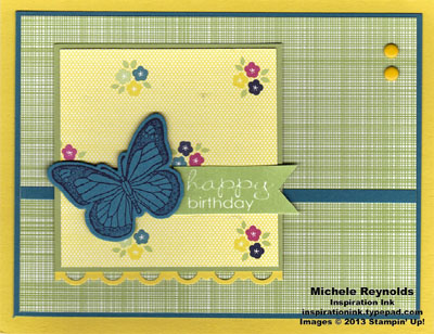 Backyard basics gingham butterfly birthday watermark