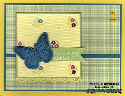 Backyard basics gingham butterfly birthday watermark