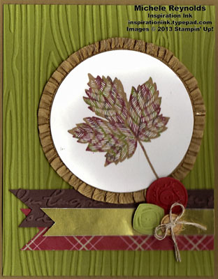 Magnificent maple ribbon framed leaf watermark