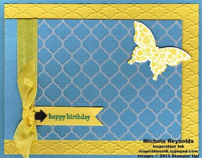 Papillon potpourri window sheet butterfly watermark