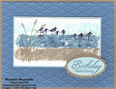 Wetlands magic washi tape shoreline watermark