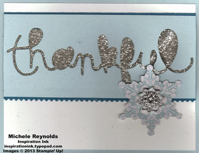 Expressions thankful snowflake watermark