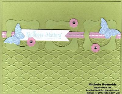 Kindness matters framed butterflies watermark