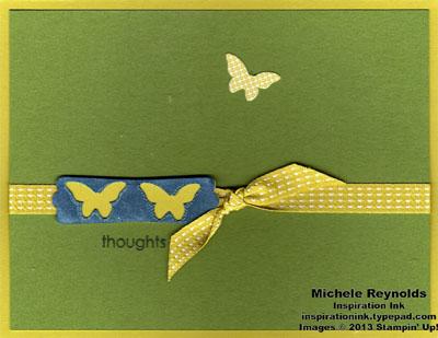 Try it kit ribboned modern label butterflies watermark