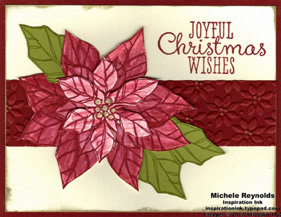 Joyful christmas blended poinsettia watermark
