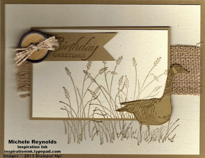 Wetlands burlap goose wishes watermark