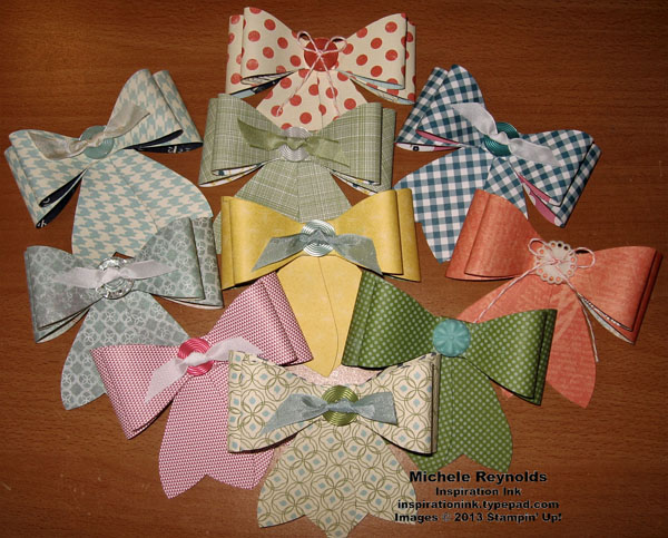 Gift bow assorted bows watermark