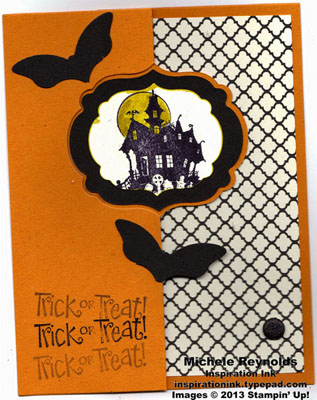 Best of halloween spooky mansion flip card watermark