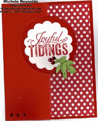 Christmas messages joyful tidings flip card watermark