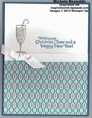 Happy hour modern christmas champagne watermark