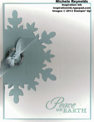 Calm christmas snowflake cut out watermark