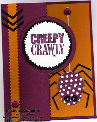 Halloween bash creepy crawly spider flip card watermark
