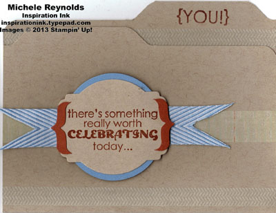 Remembering your birthday file folder card watermark