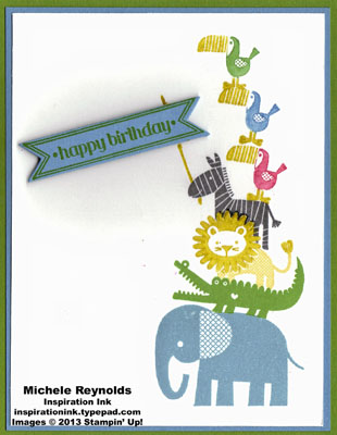 Zoo babies animal stack birthday watermark