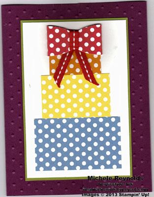 Polka dot parade paper present stack watermark