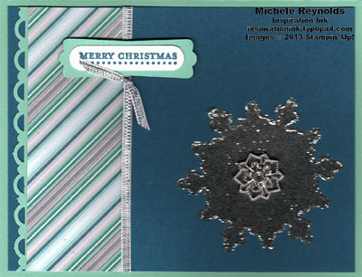 Teeny tiny wishes burnished glitter snowflake watermark