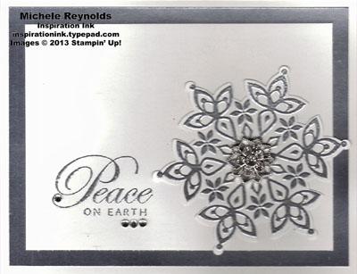 Festive flurry silver peace snowflake watermark