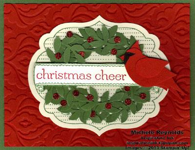 Apothecary art cardinal christmas cheer watermark