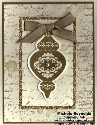 Ornament keepsakes vintage suede ornament watermark