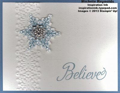 Snowflake soiree sparkle center believe watermark
